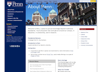 The old UPenn.edu