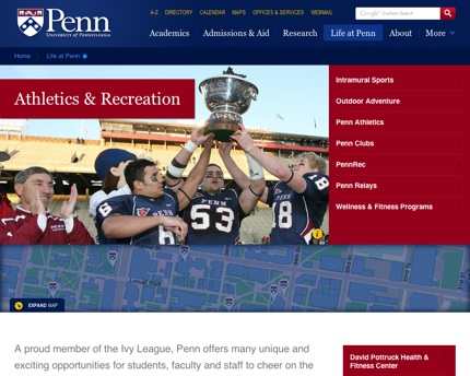 UPenn.edu Sports & Recreation