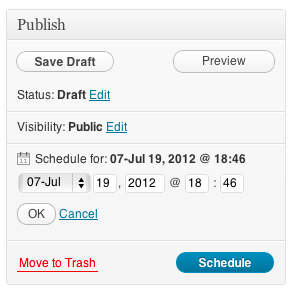 Scheduling Posts in WordPress