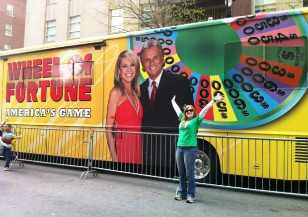 Jillian in front of the Wheelmobile