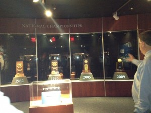 UNC National Championship Trophies
