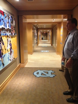 Dean Dome players' hallway