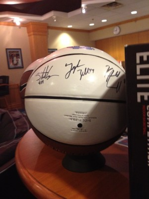 Autographed UNC basketball