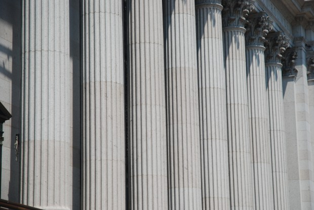 Columns on a courthouse