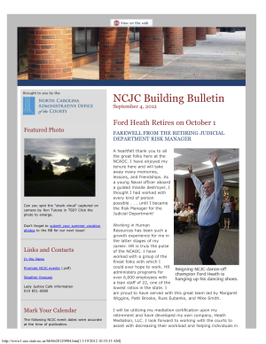 NCJC Building Bulletin September 2012