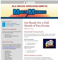 N.C. Judicial Center Employee Appreciation Committee Newsletter March 2013