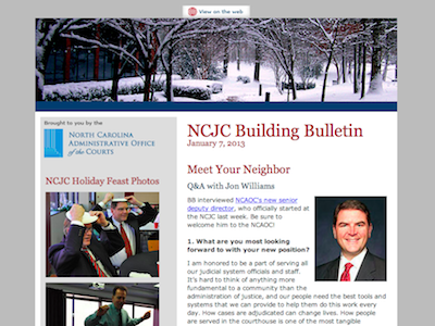 N.C. Judicial Center Building Bulletin January 2013 edition