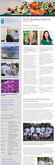 N.C. Judicial Center Building Bulletin October 2012 edition