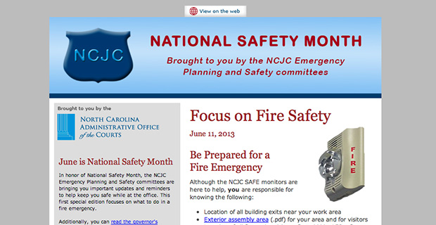 NCJC Fire Safety Newsletter 2013